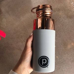 NWT rose gold pure barre water bottle